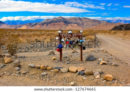 Teakettle Junction, Death Valley National Park, California - stock photo