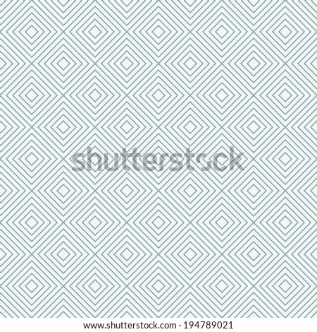Teal and White Diamonds Tiles Pattern Repeat Background that is seamless and repeats - stock photo