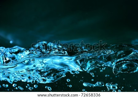teal water waves - stock photo