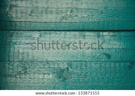 teal wood plank background - stock photo