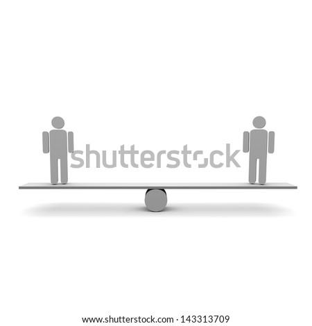 team balance - stock photo