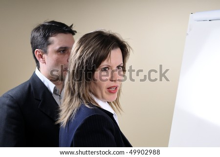 team-building in office - stock photo