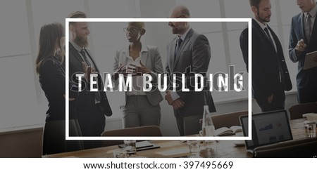 Team Building Spirit Teamwork Unity Concept - stock photo