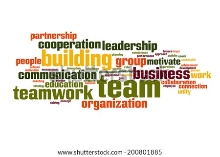 Team buliding concept word cloud background  - stock photo