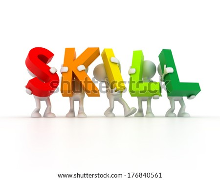 Team forming SKILL word - stock photo
