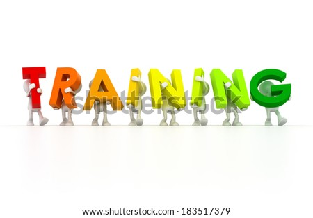 Team forming Training word - stock photo