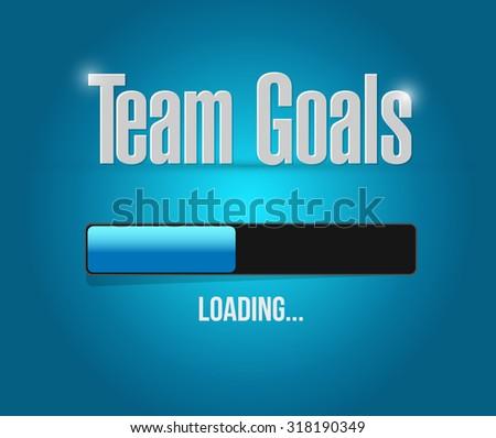 Team goals loading bar sign concept illustration design graphic - stock photo