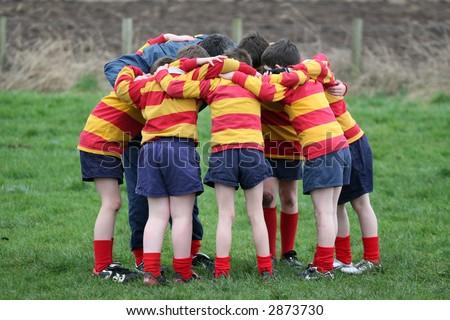 team huddle - stock photo