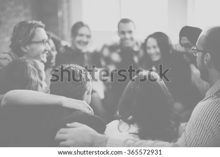 Team Huddle Harmony Togetherness Happiness Concept - stock photo