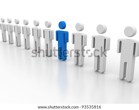 team leader - stock photo