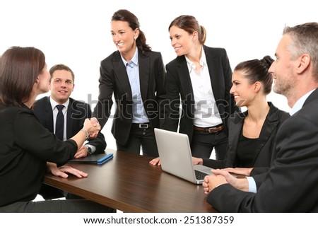 team meeting - stock photo