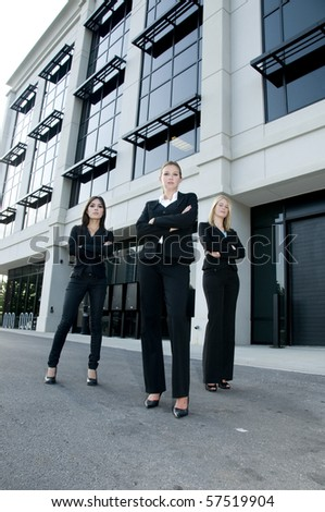 Team of attractive businesswomen