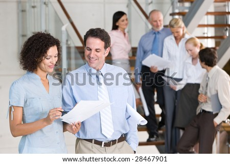Team of business people - stock photo