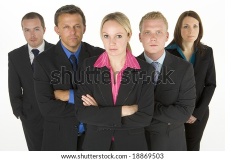 Team Of Determined Business People - stock photo