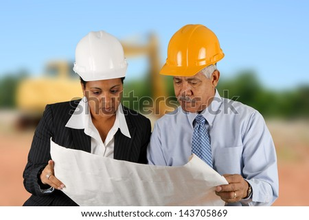 Team of people working at a construction site