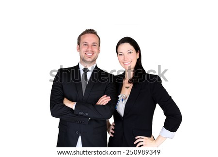 Team of two business professionals - stock photo
