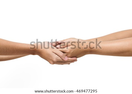 Team of woman hands join business partner, encouragement concept