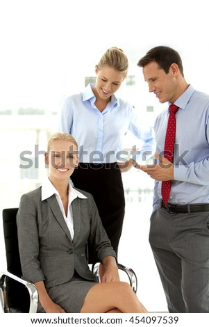 Team of young business consultants - stock photo