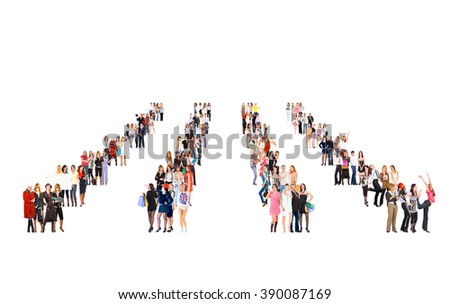 Team over White Workforce Concept  - stock photo