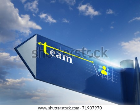 team road sing for business and marketing concepts - stock photo