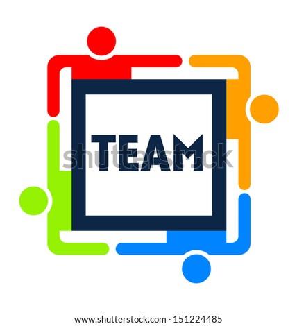 Team Square - stock photo