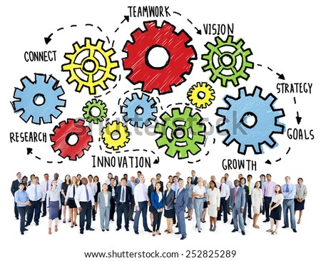 Team Teamwork Goals Strategy Vision Business Support Concept - stock photo
