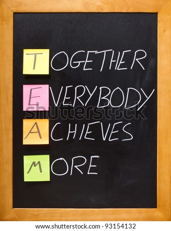 TEAM Together Everybody Achieves More - stock photo