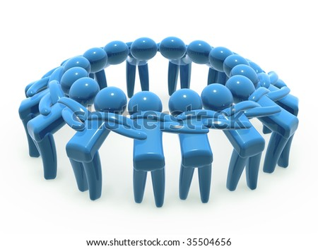 Team unity and cooperation - stock photo