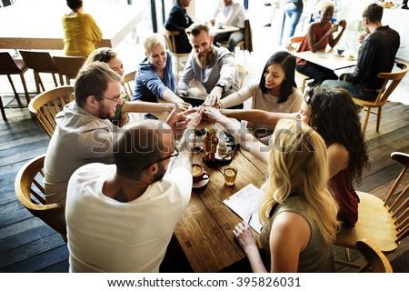 Team Unity Friends Meeting Partnership Concept - stock photo