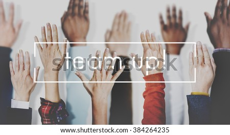 Team Up Teamwork Collaboration Togetherness Concept - stock photo
