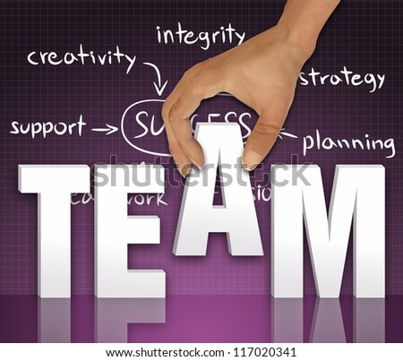 Team words concept - stock photo