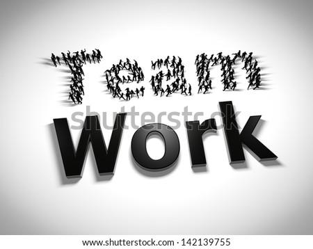 Team work concept - stock photo