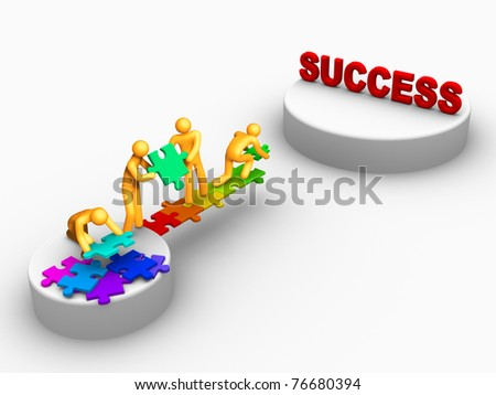 Team Work For Success. - stock photo