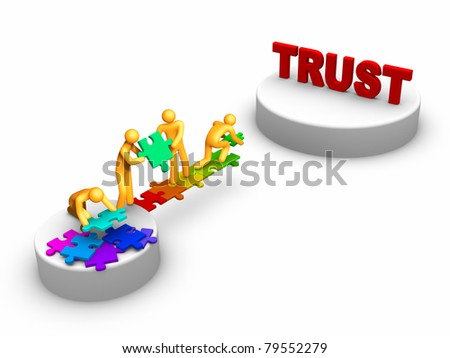 Team work for Trust - stock photo