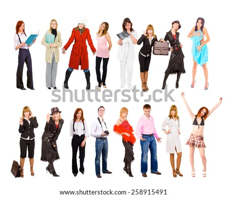 Teams over White People Diversity  - stock photo