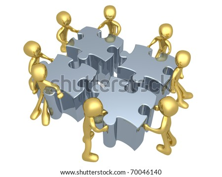 Teamwork - stock photo