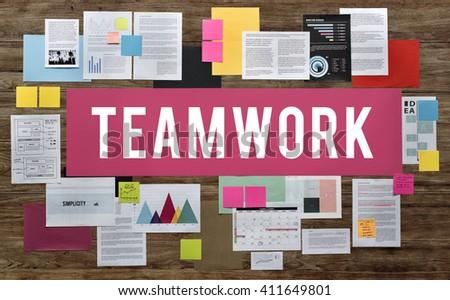 Teamwork Alliance Association Collaboration Concept - stock photo