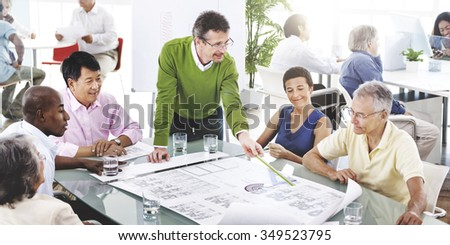 Teamwork Brainstorming Boardroom Communication Concept - stock photo