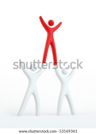 Teamwork Concept - check portfolio for variations - stock photo