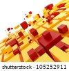 Teamwork concept. Cubes puzzle - stock photo