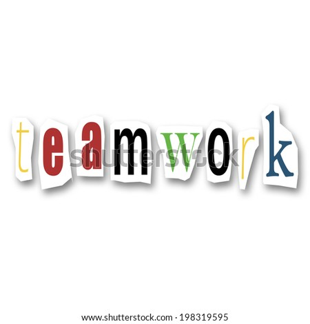 teamwork creative collage