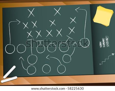 Teamwork Football Game Plan Strategy - stock photo
