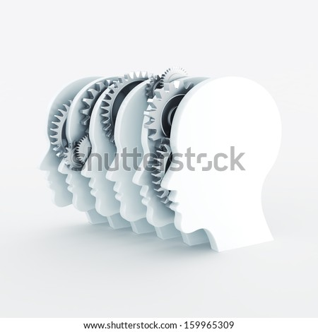 Teamwork silhouette concept  - stock photo