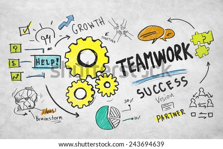 Teamwork Team Together Collaboration Group Unity Success Concept - stock photo