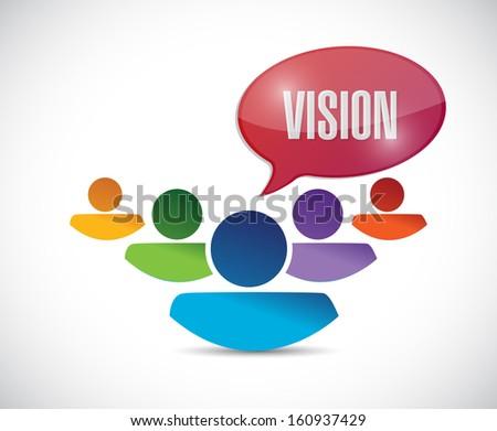 teamwork vision illustration design over a white background - stock photo