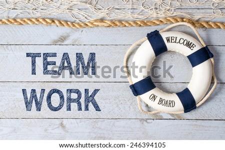 Teamwork - Welcome on Board - stock photo