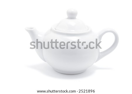 Teapot drop out on white background