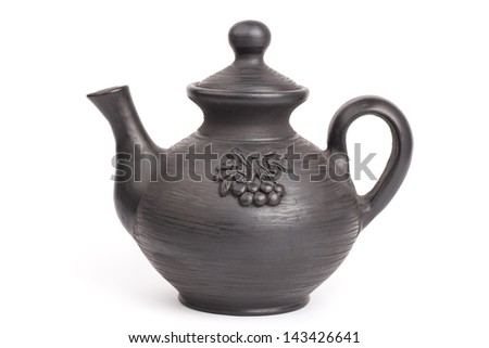 Teapot isolated on a white backgrounds - stock photo