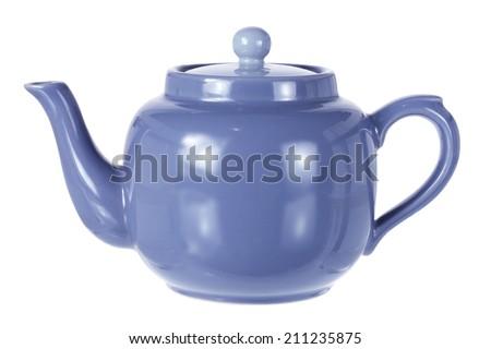 Teapot on White Background - stock photo