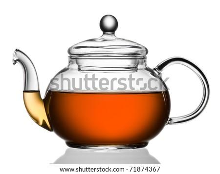 Teapot with tea - stock photo